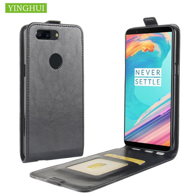 YINGHUI Luxury Wallet Flip Phone Case Bag Cover Skin For One Plus 5T Leather Case Protective Cover For OnePlus 5T