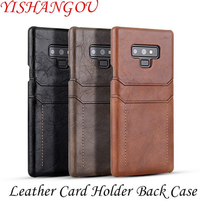 YISHANGOU PU Leather Card Holder Case For OnePlus 6 Cases Cards Slots Back Cover For One Plus 6 Luxury Phone Cases 1+6 Coque