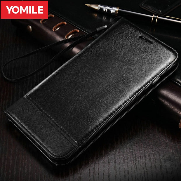YOMILE Retro Flip Leather Stand Phone Case For Samsung Galaxy S7 Edge Stand Wallet Cover For Samsung Galaxy S7 Holders Cases