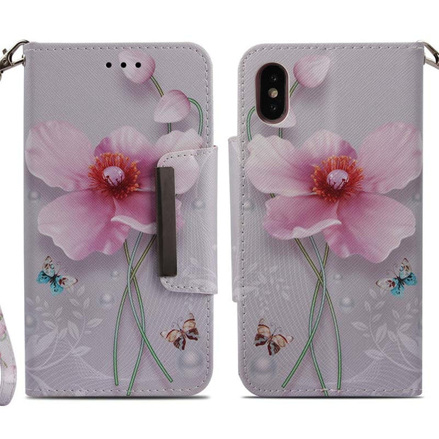 ZZCAJA For IPhone X Case Flip PU Leather Cute Animal Tiger Elephant Panda Flower Wallet Card Slot Cover For IPhone 6 6S 7 8 Plus