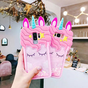Zxtrby Glitter Unicorn Horse Phone Case For Samsung Galaxy S9 S8 Plus Note8 G530 J510 J710 J330 J530 J730 EU Soft Back Cover