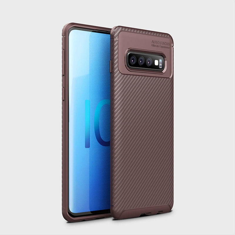 For Samsung Galaxy S10 Cases Soft TPU Carbon Fiber Pattern Cooling Case Cover For Samsung Galaxy S10Plus S10Lite S9 Plus Note9