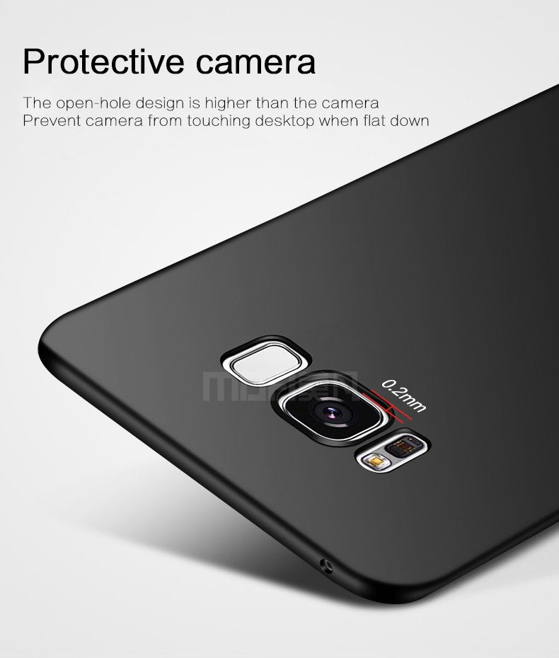 For Samsung S8 Case Samsung Galaxy S8 Plus Case Cover Hard Protection Black Capas MOFi Original Galaxy S8 Back Cover S8+