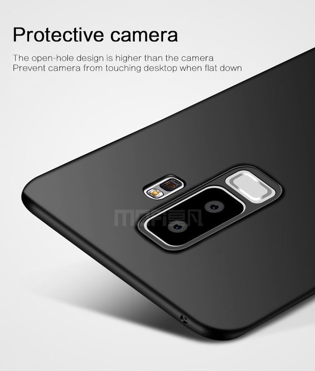 For Samsung S9 Case Samsung Galaxy S9 Plus Case Cover Hard Protection Black Capas MOFi Original Back Cover S9 S9+ 6.2""