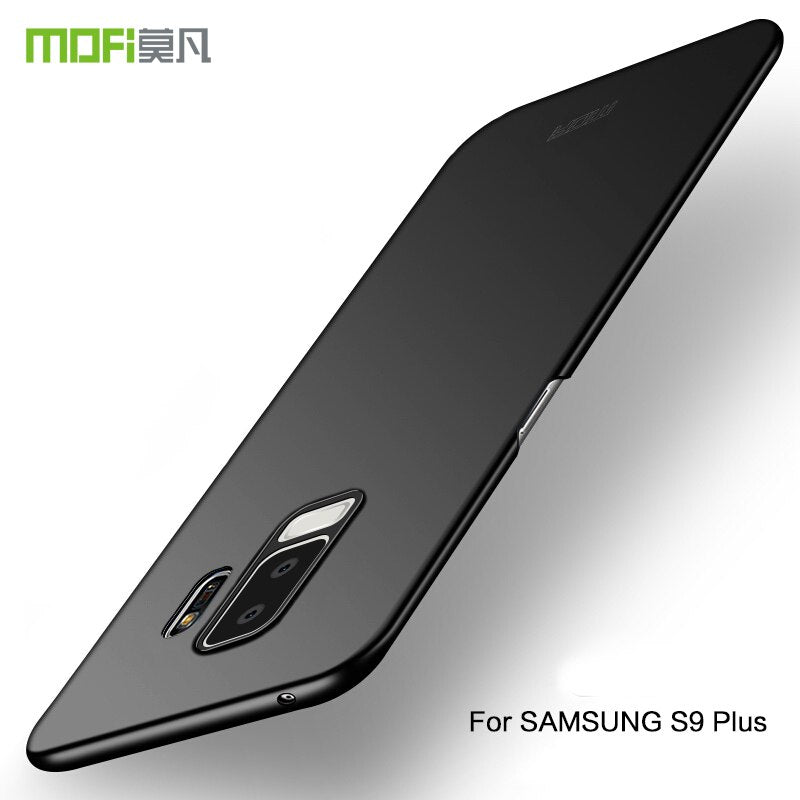 For Samsung S9 Plus S9+ S9pluscase Hard Cover Full Protect Case Black Funda Capas MOFi For Galaxy S9 Plus Case