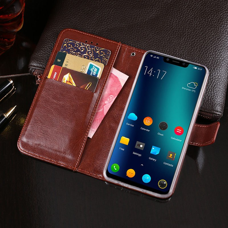 ITien Book Style Luxury Durable Leather Protective Cover Case For Elephone A5 TPU Silicone Shell Wallet Etui Skin