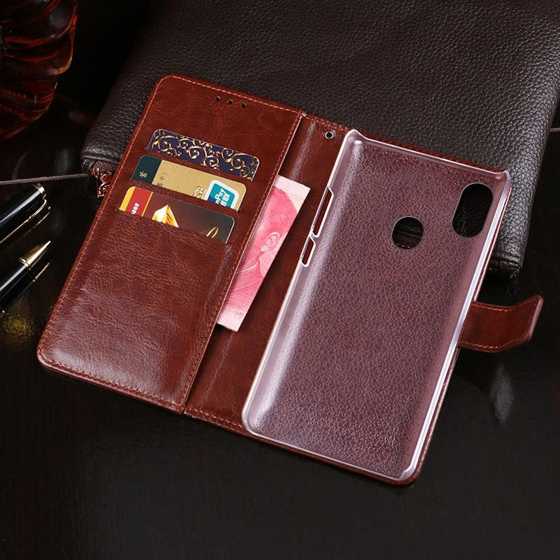 ITien Premium PU Retro Style Leather Protective Cover Case For Ulefone S8 Pro T1 X TPU Silicone Shell Wallet Etui Skin
