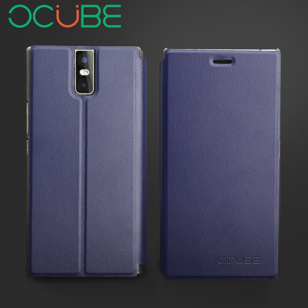 "Oukitel K3 Leather Case Ocube Protective Stand Flip PU Leather Hard Cover Case For 5.5"" Oukitel K3mobile Phone"