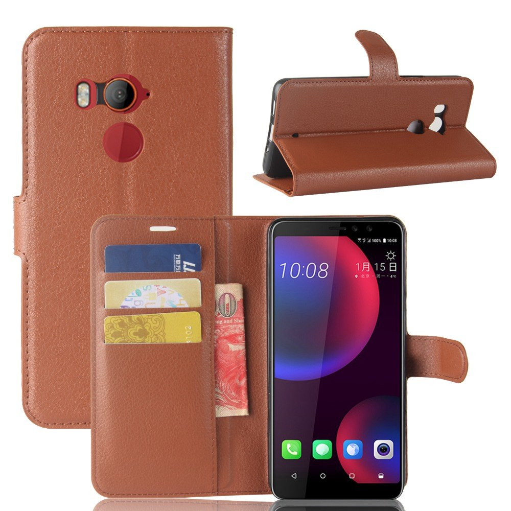 SFor HTC U11 Eyes Case MUXMA Business Style Faux Leather Cover For HTC U11 Eyes Para Flip Wallet Fundas Card Slots Phone Cases