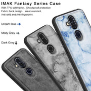 SFor Nokia X7 Case 8.1 Cover IMAK Fantasy Serise Fabric Silicone Shockproof Protection Back Case For Nokia X7 7.1 Plus With Film