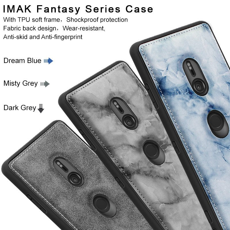 SFor Sony Xperia XZ3 Case IMAK Fabric Silicone Shockproof Protection Back Cover Case For Sony Xperia XZ3 With Film