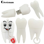 100% Real Capacity Tooth Shape USB Flash Drives 4GB 8GB 16gb 32GBG 64GB Teeth Pen Drive USB Disk Flash Memory Stick
