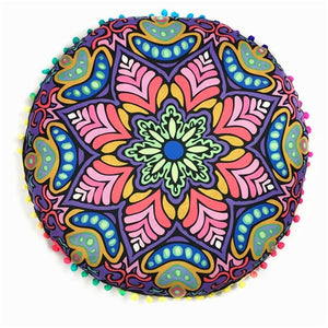 Mandala Pillow Cover Meditation Cushion