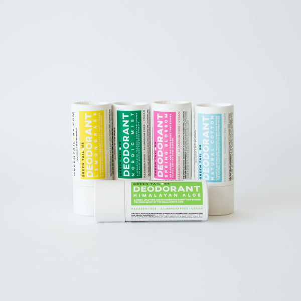 Deodorant made with natural ingredients and 100% recyclable carton pack