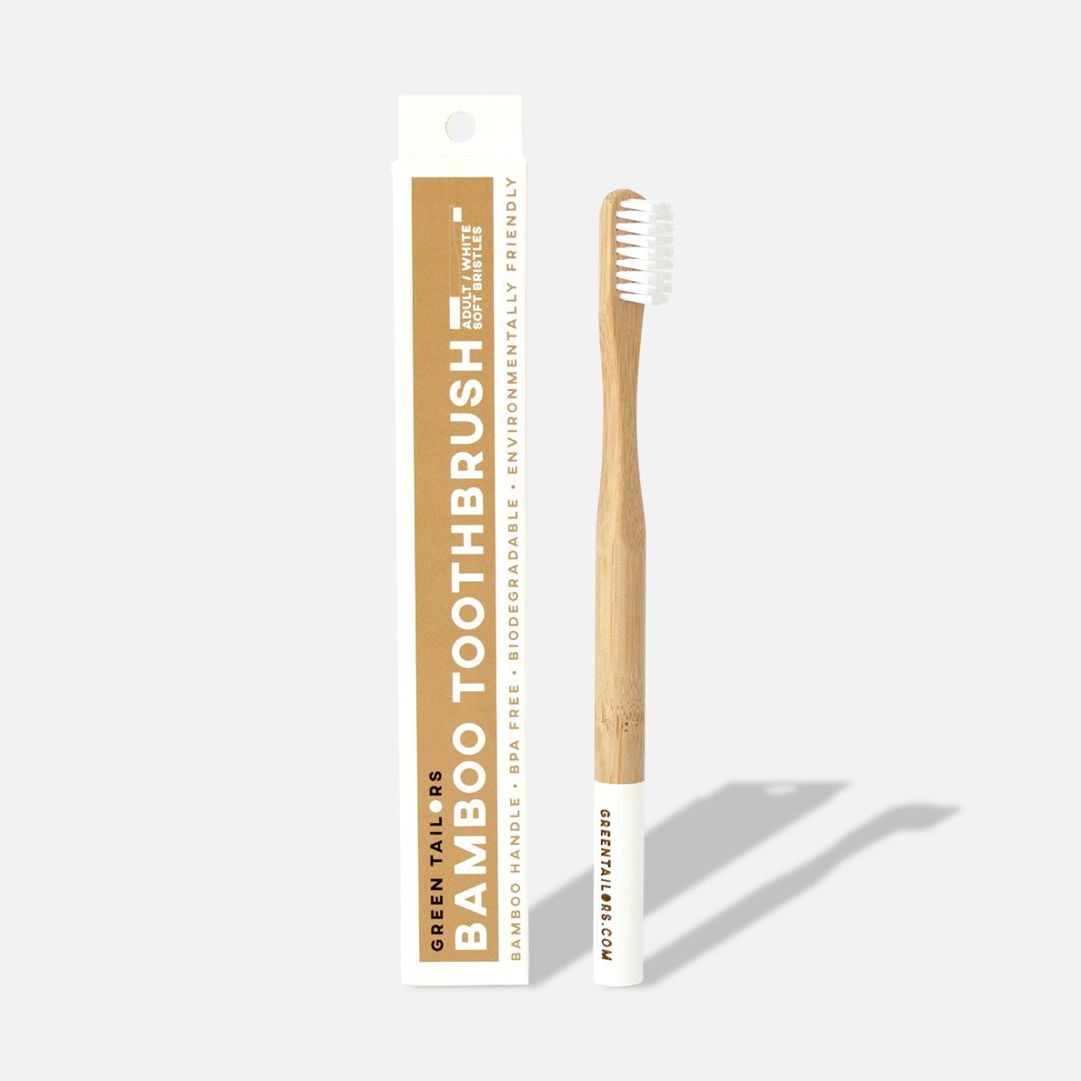 BAMBOO TOOTHBRUSH | Adult | White | Soft bristles