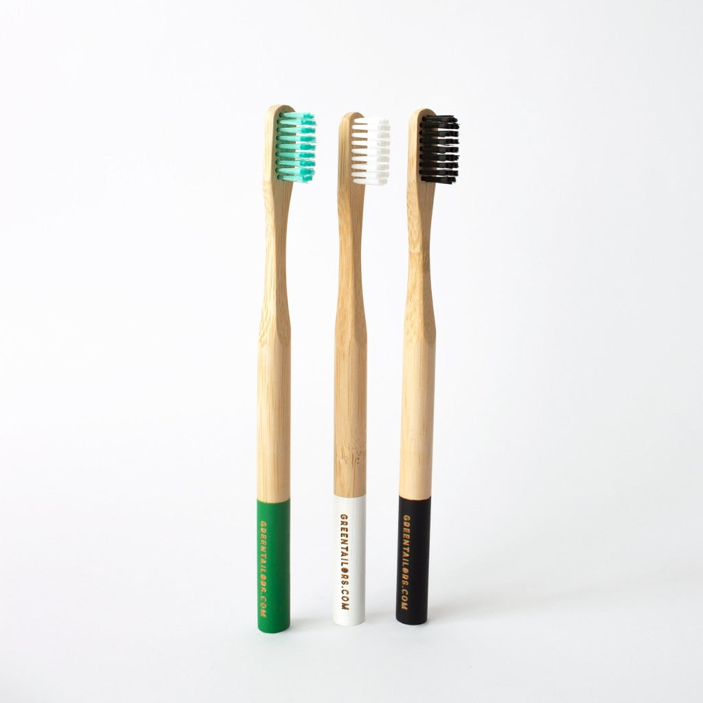 Bamboo Toothbrush | Adult Green Medium Bristles