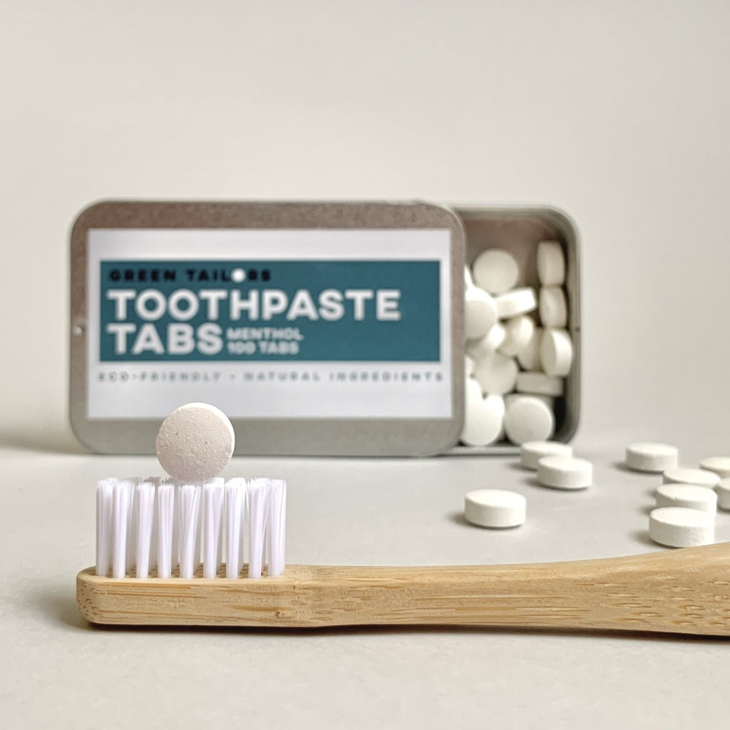 GREEN TAILORS DENTAL TOOTHPASTE TABS ECO FRIENDLY NATURAL