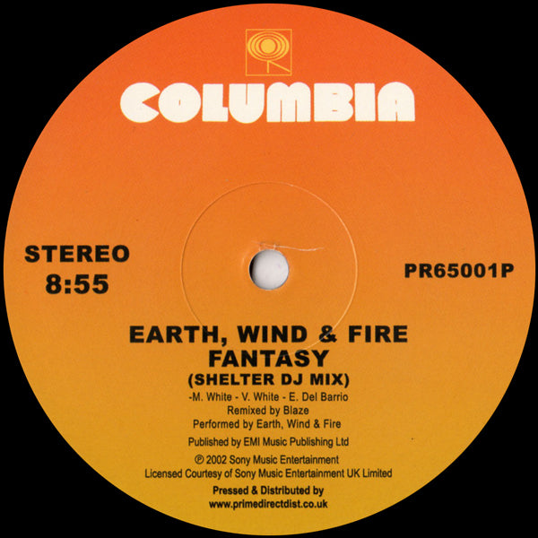 Earth, Wind & Fire - Fantasy (Shelter DJ Mix) / Can't Hide Love (MAW Album Mix) - 12""