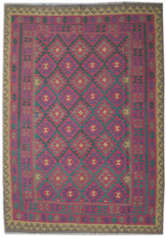 Handmade Safar Collection Kilim | 296 x 210 cm - Najaf Rugs & Textile