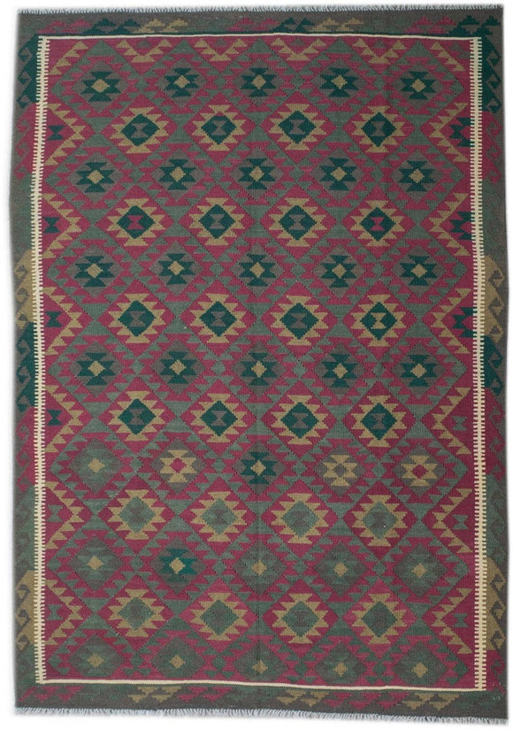 Handmade Safar Collection Kilim | 290 x 212 cm - Najaf Rugs & Textile