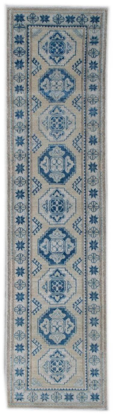 Handmade Sultan Collection Hallway Runner | 348 x 82 cm - Najaf Rugs & Textile