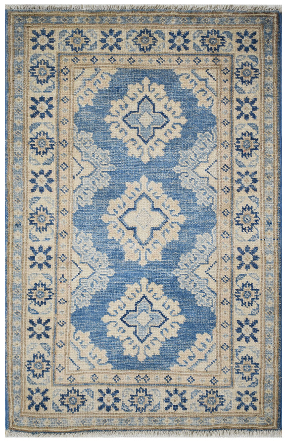 Handmade Mini Sultan Collection Rug | 94 x 60 cm | 3' x 1'9