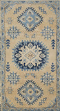 "Handmade Sultan Collection Rug | 146 x 92 cm | 4'7"" x 3'"