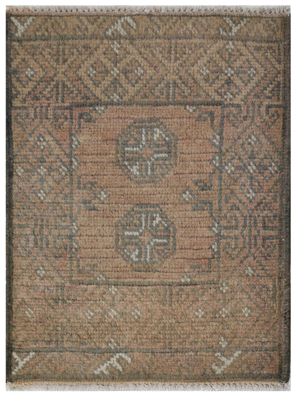 Handmade Mini Tribal Turkmen Rug | 64 x 47 cm | 2' x 1'5