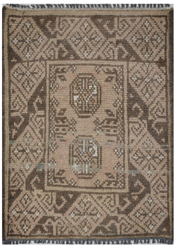 Handmade Mini Tribal Turkmen Rug | 65 x 49 cm | 2'13