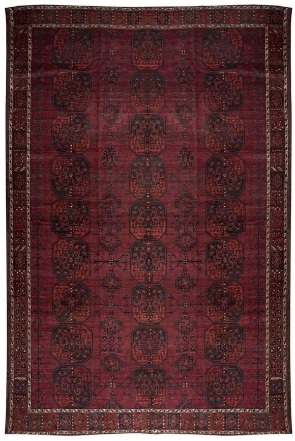 Handmade Antique Afghan Elephant's Foot Rug | 345 x 262 cm
