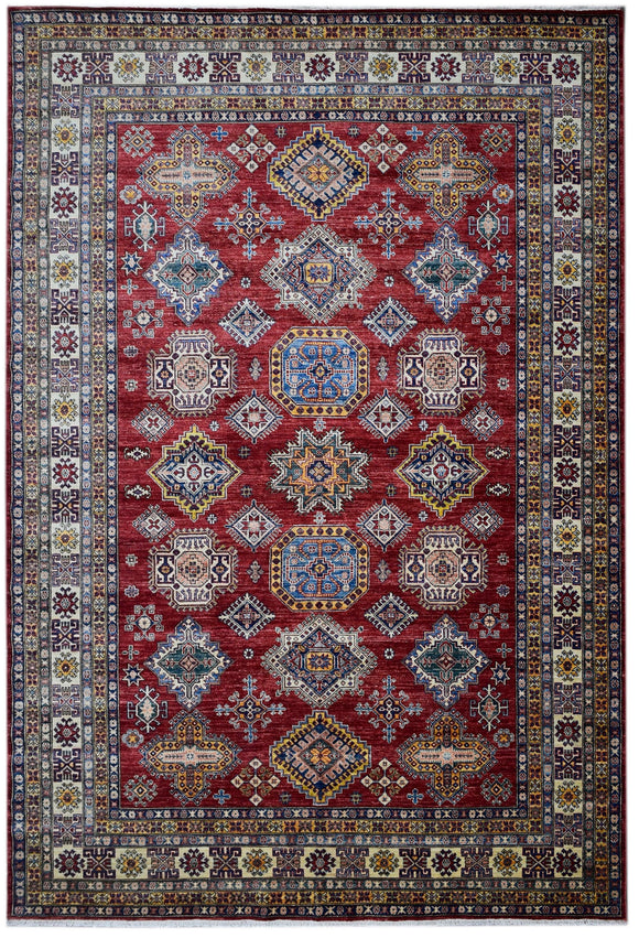 Handmade Traditional Super Kazakh Rug | 317 x 251 cm