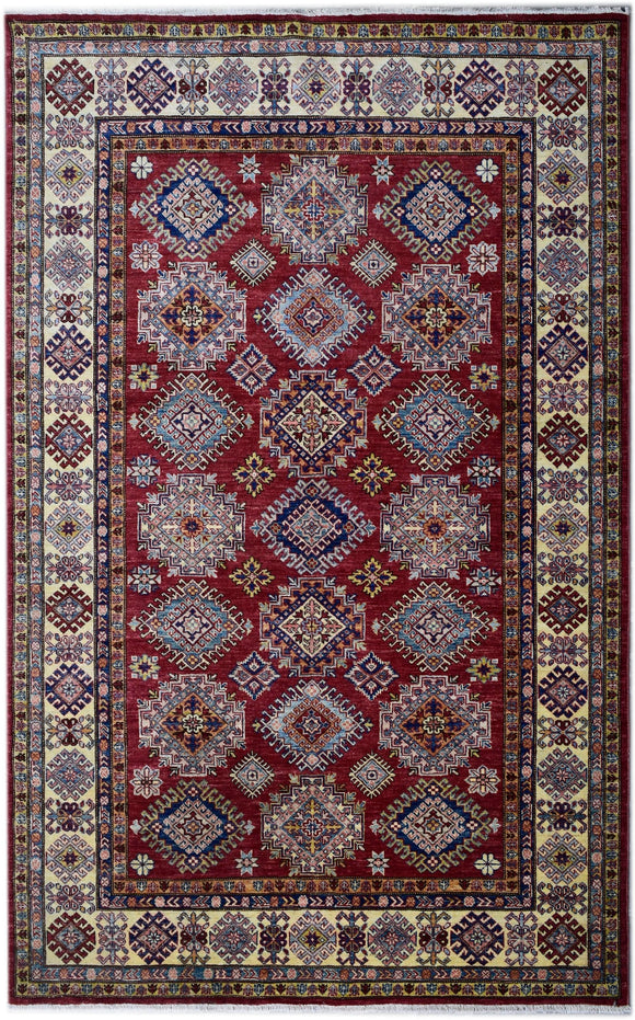 Handmade Traditional Super Kazakh Rug | 238 x 182 cm | 7'8
