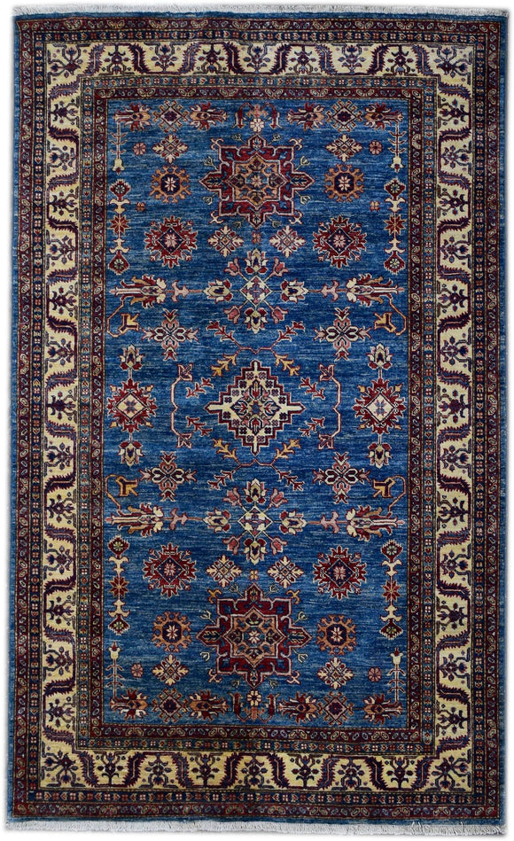Handmade Traditional Super Kazakh Rug | 201 x 150 cm | 6'5