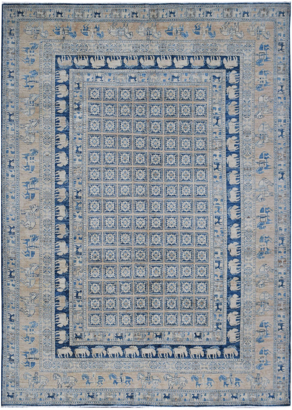 Handmade Super Sultan Collection Rug | 344 x 240 cm | 11'4