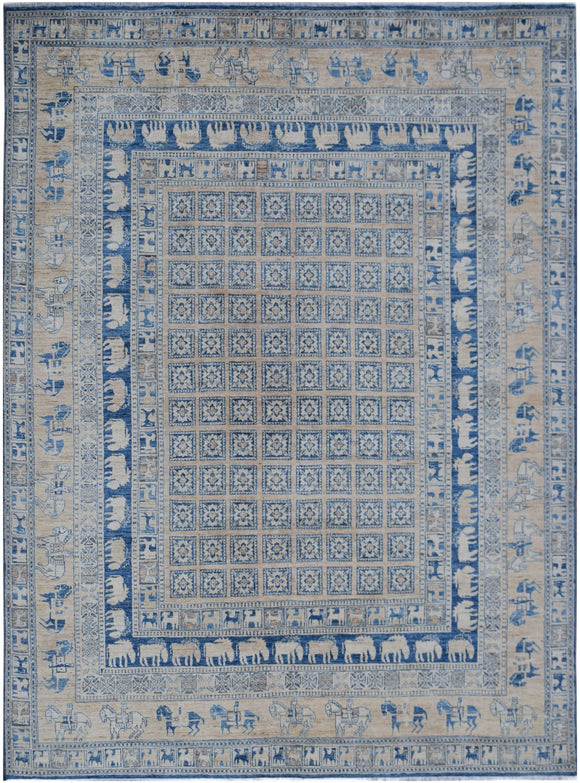 Handmade Super Sultan Collection Rug | 293 x 241 cm | 9'8