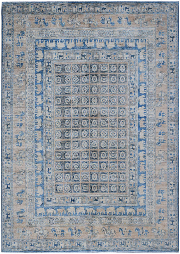 Handmade Super Sultan Collection Rug | 303 x 247 cm | 10' x 8'2