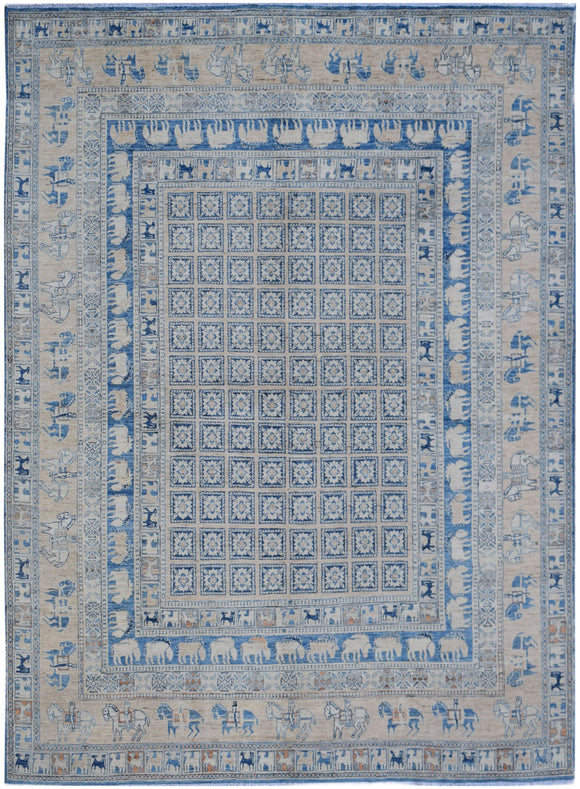 Handmade Super Sultan Collection Rug | 293 x 240 cm | 9'8