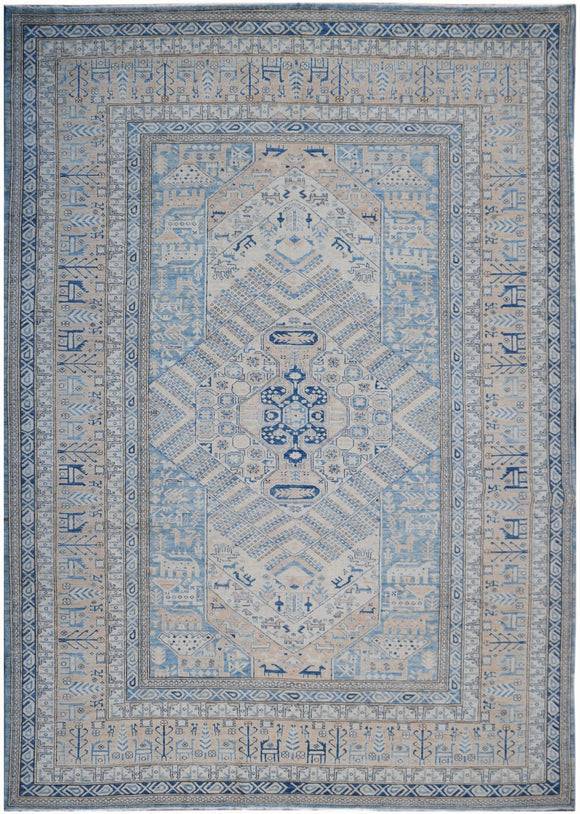 Handmade Super Sultan Collection Rug | 367 x 266 cm | 12'1