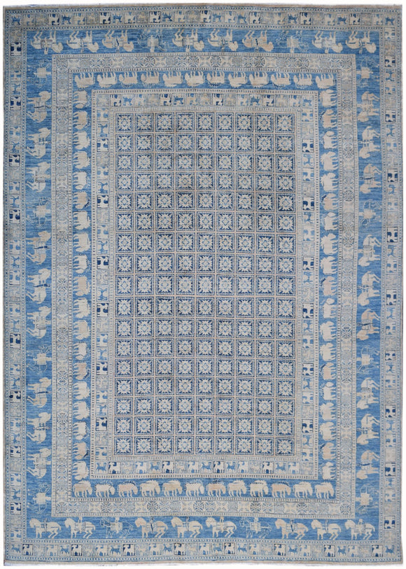 Handmade Sultan Collection Rug | 368 x 265 cm | 12'1