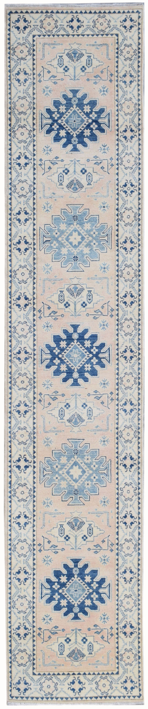 Handmade Sultan Collection Hallway Runner | 397 x 88 cm | 13' x 2'10