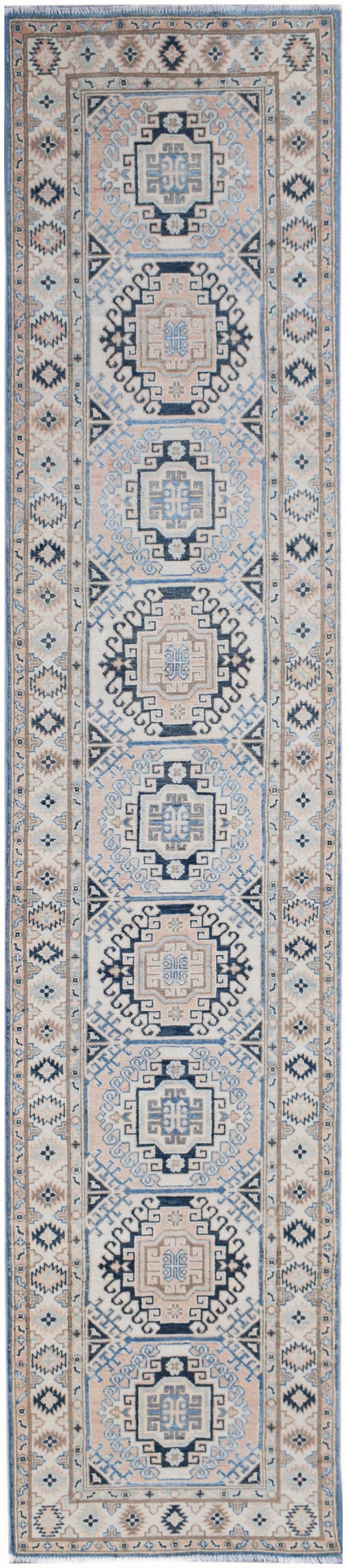 Handmade Sultan Collection Hallway Runner | 401 x 83 cm | 13'2