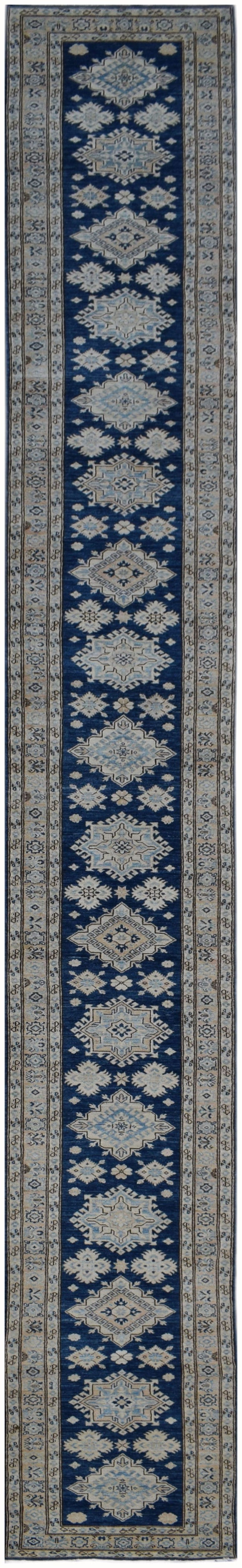 Handmade Super Sultan Collection Hallway Runner | 685 x 77 cm | 22'4