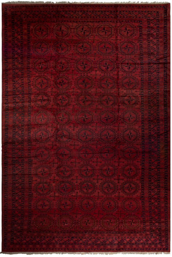Handmade Antique Traditional Turkmen Rug | 598 x 399 cm