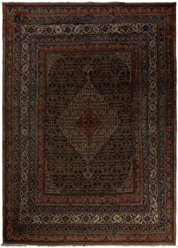 Handmade Antique Persian Saneh Rug | 470 x 336 cm | 15'4