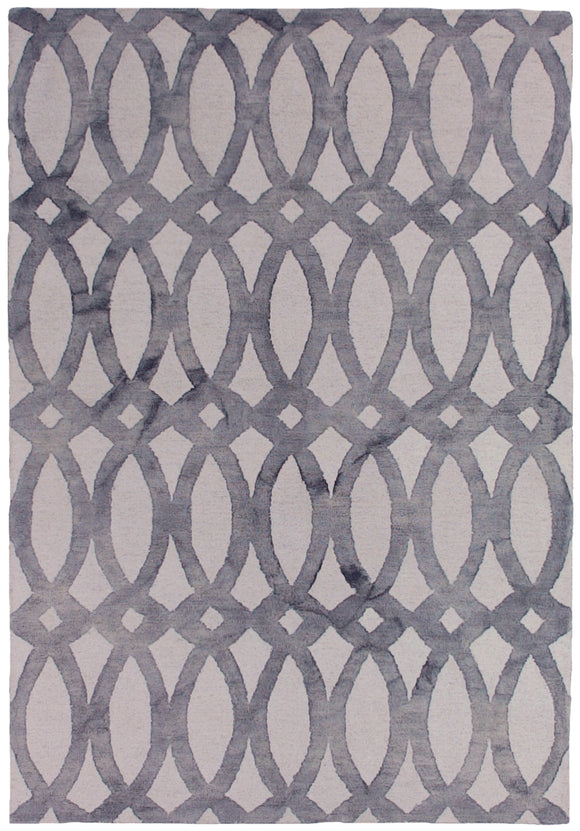 Handtufted Modern Dip Dyed Grey Rug