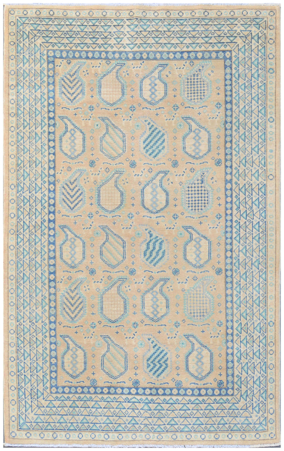 Handmade Sultan Collection Hallway Rug | 187 x 119 cm - Najaf Rugs & Textile