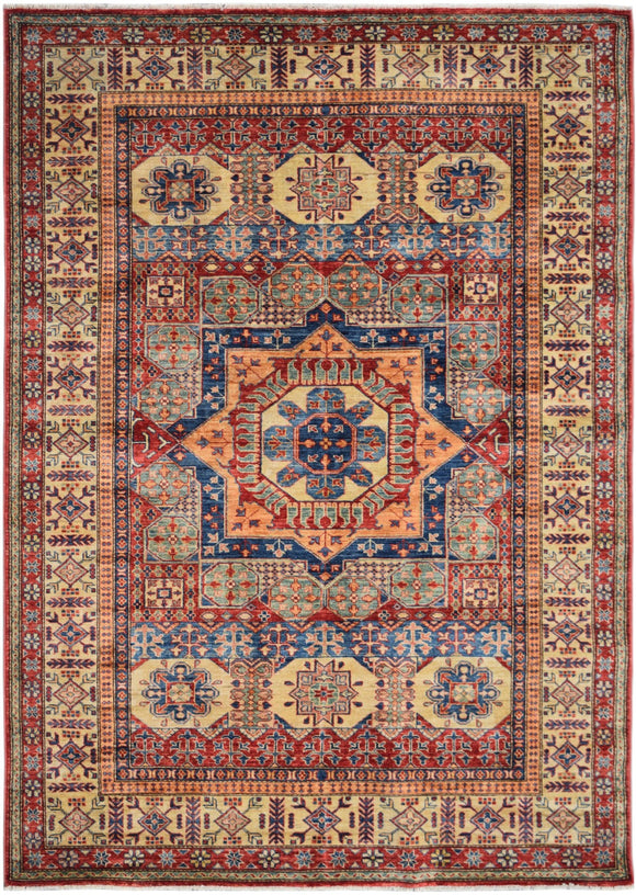 Handmade Traditional Super Kazakh Rug | 230 x 169 cm | 7'7