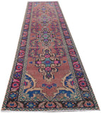 "Handmade Tribal Abrash Collection Hallway Runner | 400 x 101 cm | 13'1"" x 3'4"""