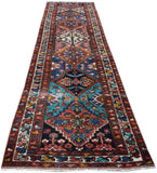 Handmade Tribal Abrash Collection Hallway Runner | 414 x 103 cm