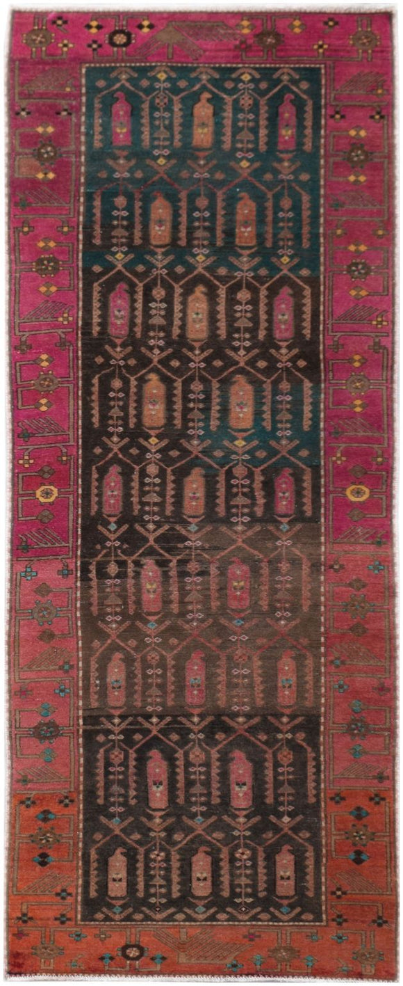 Handmade Tribal Abrash Collection Hallway Runner | 312 x 106 cm | 10'3